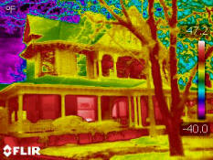 Infrared scan of residential home in Dallas, Texas