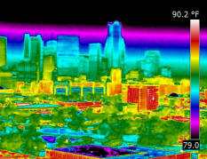 Infrared scan of Dallas, Texas
